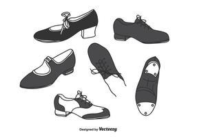 Tapez le vecteur de chaussures