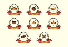 brioche logo template vecteur