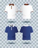 ensemble de maquette de vêtements de marque