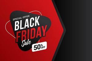 modèle de bannière de vente vendredi noir vecteur