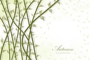 fond de forêt de bambou vecteur