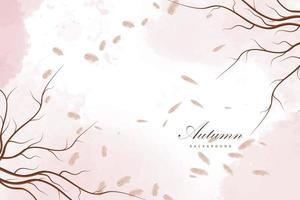 fond rose automne