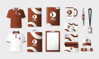 ensemble de maquette de marque et de marketing