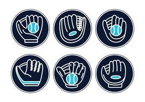 Softball gant vecteur