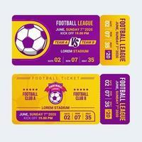 modèle de billet d'entrée de football