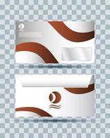 icône isolé de maquette de marque enveloppe vecteur