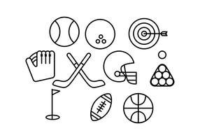 Vecteur d'icône de ligne de sport gratuit