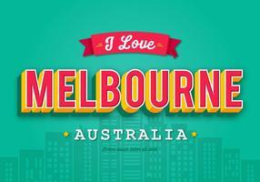 Rétro carte de voeux de Melbourne vecteur