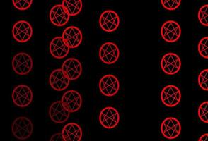 toile de fond rouge foncé avec des symboles mystérieux. vecteur