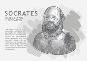 Socrate dessiné à la main vecteur