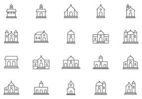 Abbaye et vecteurs d'église gratuits vecteur