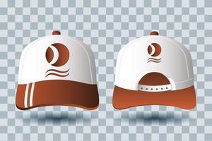 ensemble de maquette de marque accessoires chapeaux vecteur