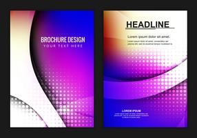 Brochure d'affaires colorée de vecteur libre