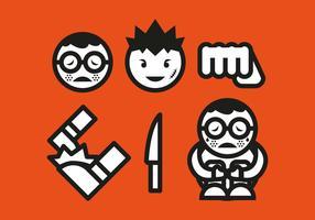 Vecteur d'icônes d'intimidation