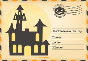 Invitation de Halloween de style d'enveloppe vecteur
