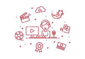 Vecteur de créateur de contenu vidéo