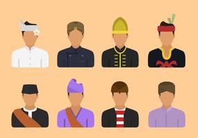 Vecteurs de la tribu indonésienne