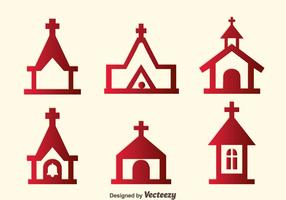 vecteur icônes abbaye