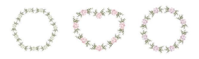 ensemble de cadre floral vecteur