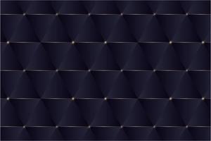 triangles bleus et design moderne de lignes dorées.