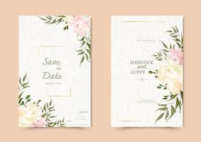 carte d'invitation de mariage floral.