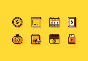Vecteurs de paie et de finances gratuits vecteur