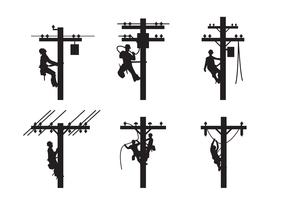 vecteur silhouette lineman