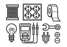 Icônes vectorielles de Lineman