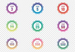 Badges top graphiques modernes