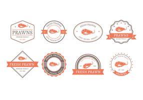 Vecteur de badges de crevettes