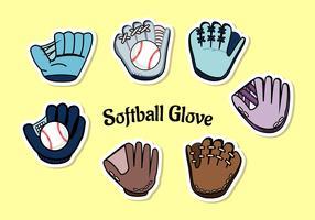 Vecteur de gants Softbal