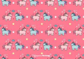 Motif de vecteur licornes
