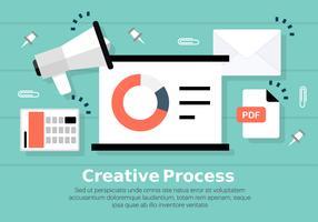 Illustration vectorielle de Digital Marketing gratuit