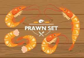 Vecteur de Set de crevettes