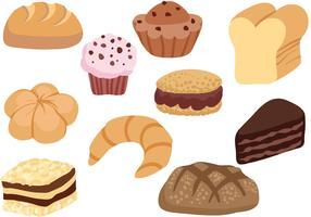 Vecteurs de pâtisserie français gratuits vecteur