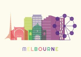 Vecteur de Melbourne Skyline