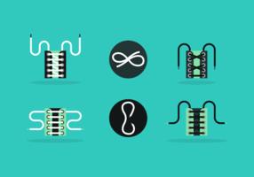 shoestring pack d'icônes vectorielles gratuit