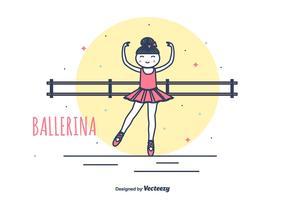 illustration vectorielle de prima ballerine