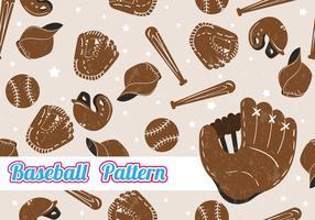 Modèle sans couture de Softball vecteur