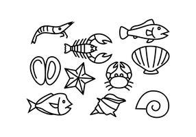 Vecteur d'icône de ligne mer libre