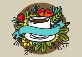 Bannière de tasse de café vecteur