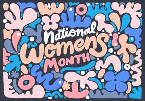 Lettrage du Mois national de la femme vecteur