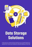 affiche de solutions de stockage de données vecteur