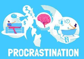 conception d'affiche de procrastination
