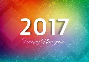 Vecteur libre nouvel an 2017 fond