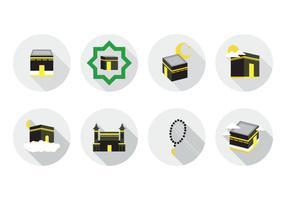 Icône de Kaaba Makkah gratuit vecteur