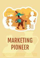 affiche de pionnier du marketing
