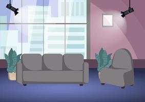 scène de tournage de talk-show vide