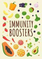 affiche de boosters d'immunité vecteur