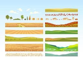 ensemble d'objets agricoles vecteur